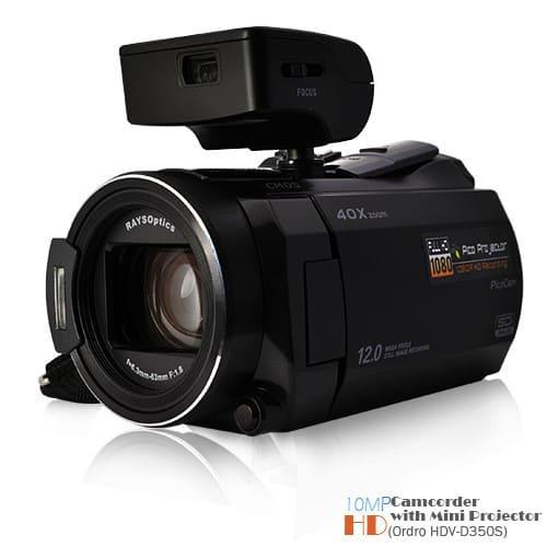 Видеокамера с проектором Ordro HDV-D350S