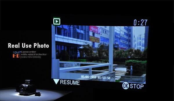 Фотокамера с проектором Ordro HDV-D350S