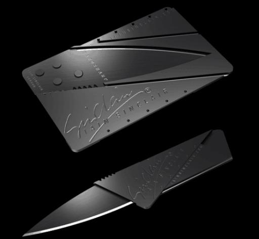 Складной нож-карта
