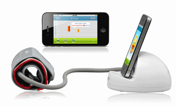 Тонометр для iPod, iPhone, и iPad