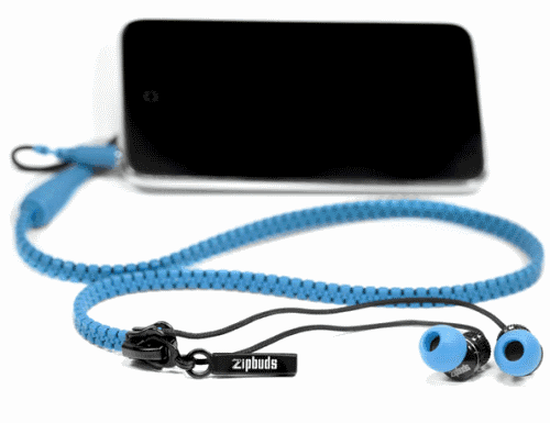 Наушники на молнии Zipbuds