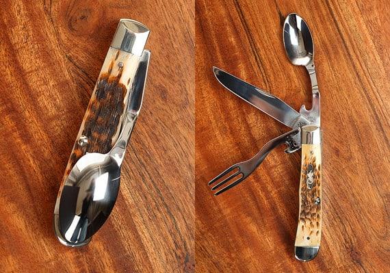 Универсальный складной нож с ложкой и вилкой