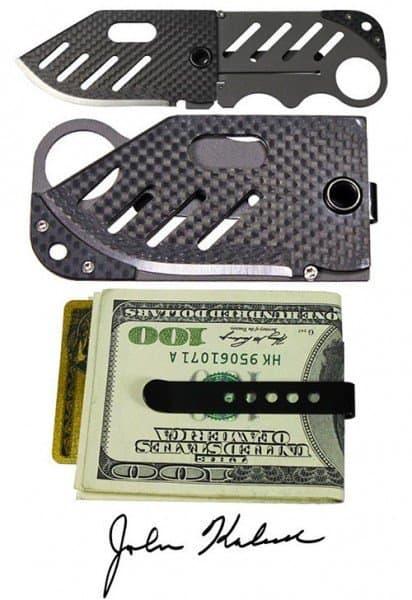 Зажим для купюр со складным ножом Creditor