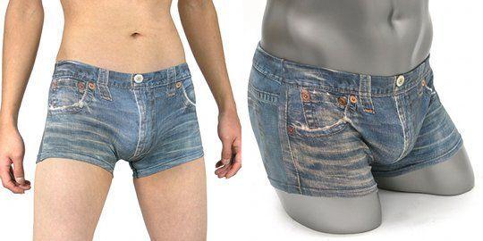 Короткие псевдоджинсовые шорты