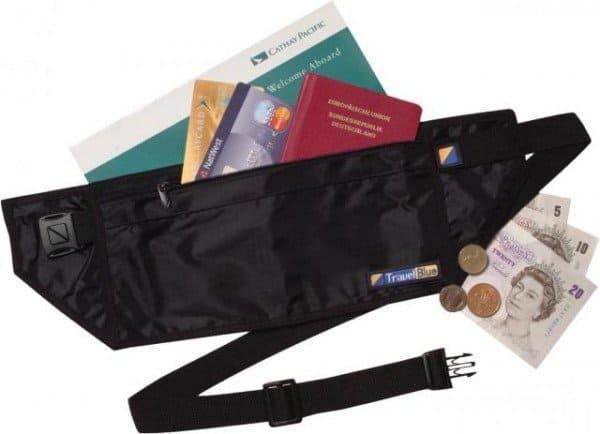 Компактное потайное портмоне на пояс Travel Blue «Люкс»