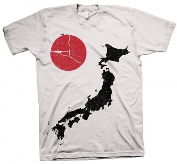 Футболка в поддержку Японии
