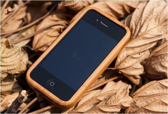 Бамбуковый защитный чехол для iPhone 4