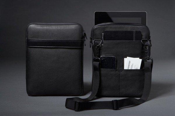 Классический кожаный чехол-сумка для iPad2