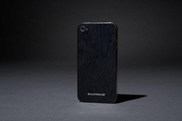 Стикер из черного дерева для iPhone 4
