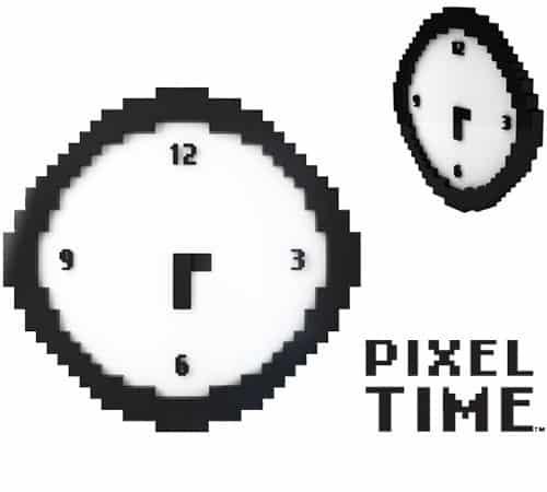 Пиксельные настенные часы