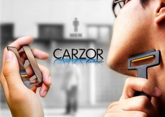 Carzor – складная бритва с зеркалом
