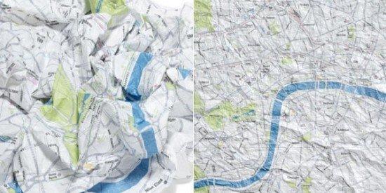 Сминаемые карты городов