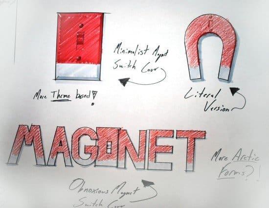 Магнитная накладка на выключатель