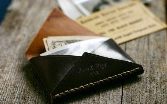 Бумажник-конверт из дубленой кожи
