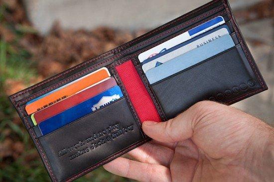 Кожаный бумажник QWERTY