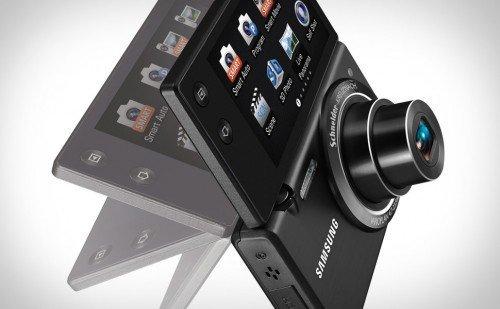 Компактный цифровой фотоаппарат с flip-out экраном Samsung MV800