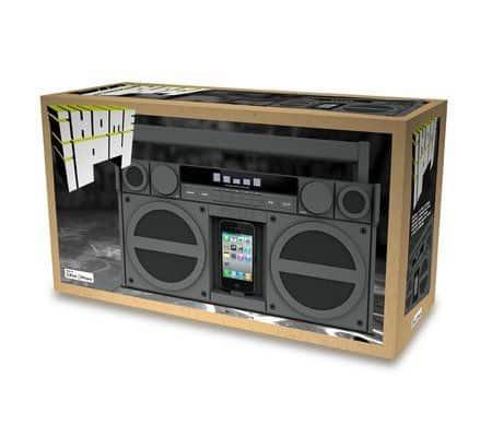 Портативный FM стерео бумбокс для iPhone, iPod