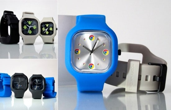 Часы в стиле Google Chrome Watch Set