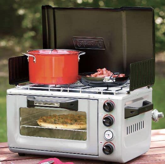 Портативная плита и духовка для приготовления пищи на воздухе