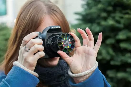 kaleidoscope of lenses for dslr-camera
