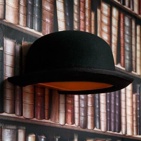 Jeeves Bowler Hat Wall Lamp
