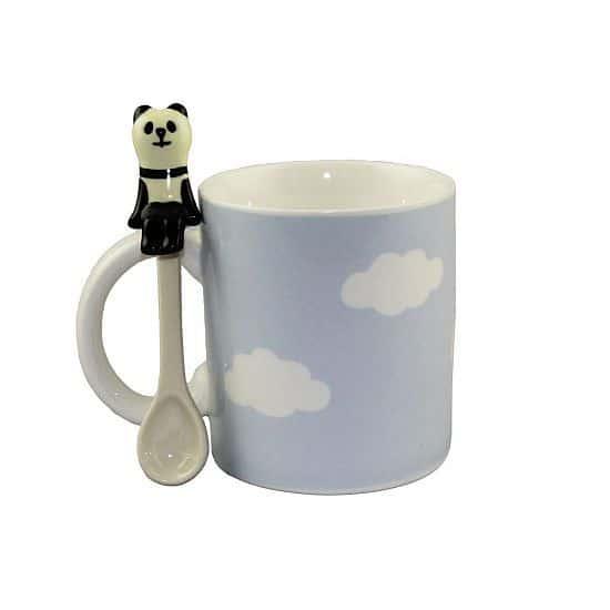 Panda on a Cloud Mug and Spoon Set