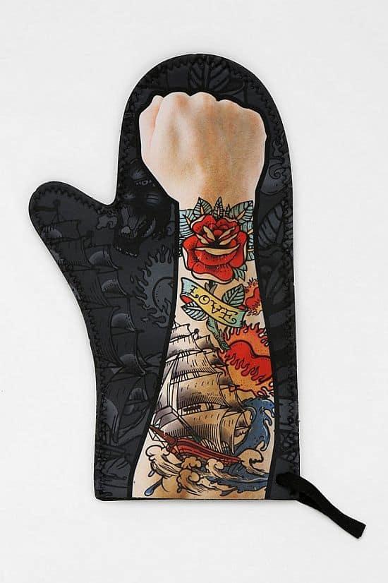 Tattooed Arm Oven Mitt