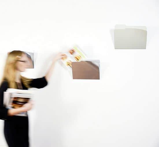 Wall-Mounted Metal Folders