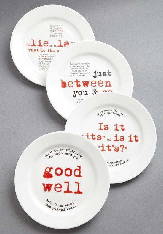 Gourmet Grammarian Dish Set