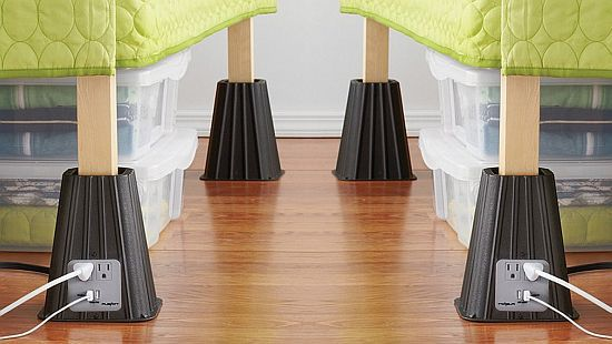 Power Bed Risers With Power Outlet