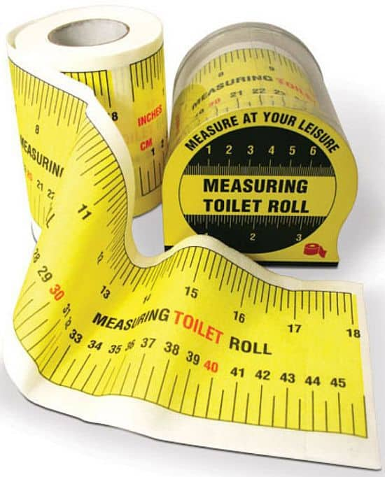 Tape Measure Toilet Paper