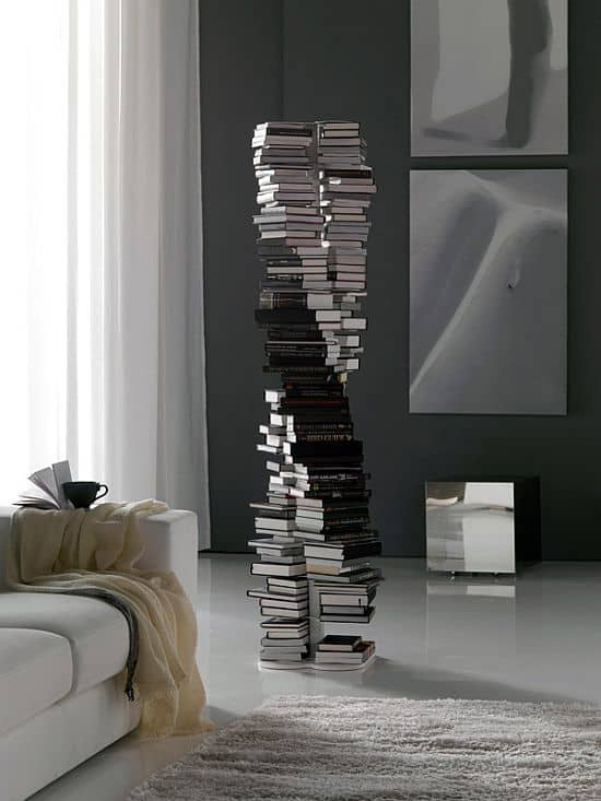 DNA Double-Helix Bookcase