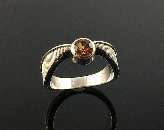 Harry Potter Golden Topaz Snitch Ring