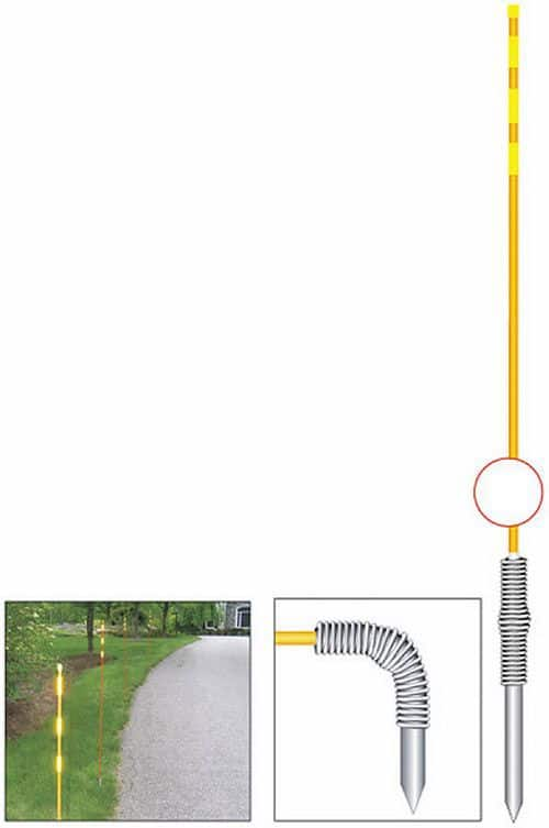Reflective Bendable Driveway Markers