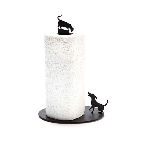 Dog Vs. Cat Paper Towel Holder