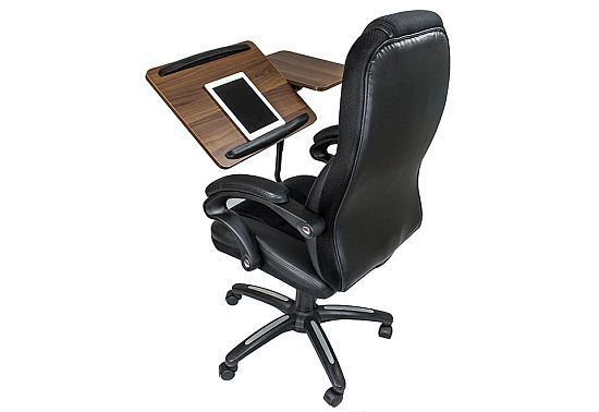 Office Chair with Integrated Laptop Desk
