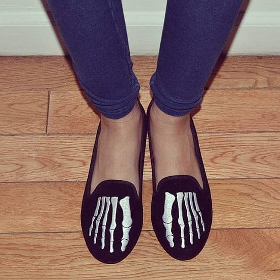 Lavish Bones Slip On Shoes