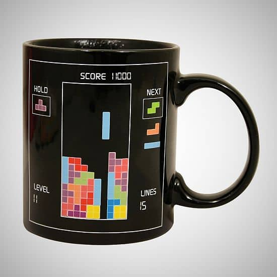 Tetris Heat Change Coffee Ceramic Mug