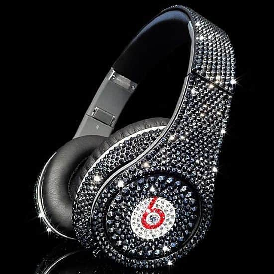 Crystal Rocked Beats Studio Headphones