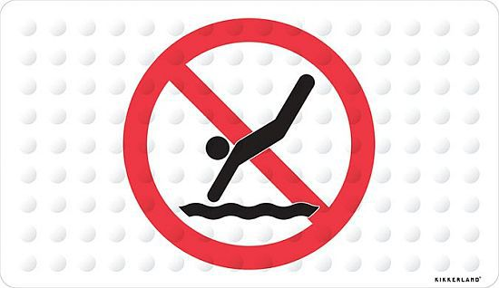 No Diving Rubber Bath Mat