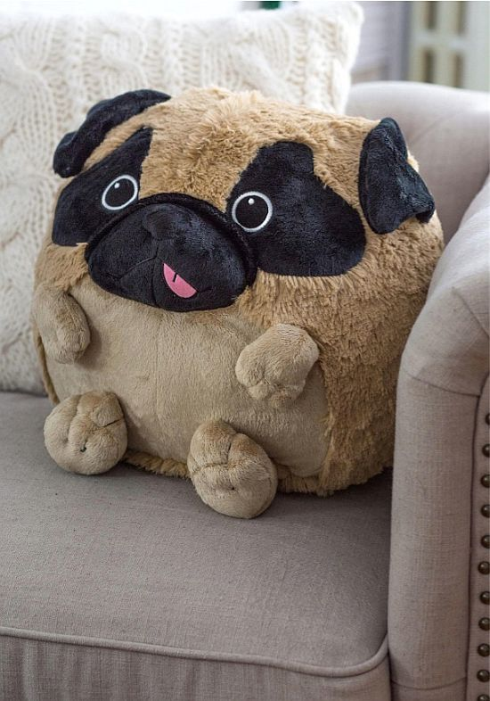Plush One Pug Pillow