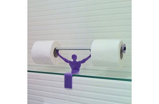 Strong Man Toilet Paper Holder
