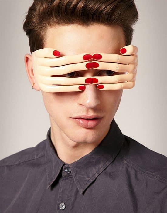 Hands Over Eyes Glasses