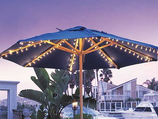 Harbor Patio Umbrella Lights