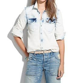 Light Storm Western Jean Shirt by Madewell