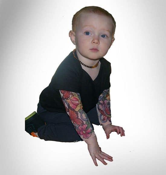Baby Tattoo Sleeves Onesie