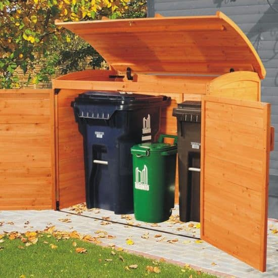 Garbage Can Storage Shed