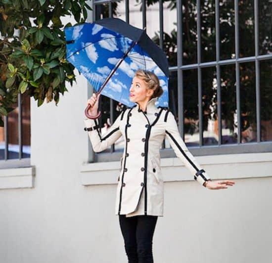 Blue Skies Graphic Umbrella