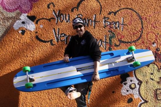 Classic Blue Surfing Longboard by Hamboards