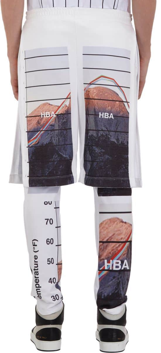 Graphic-Print Fleece Combo Pant-Shorts by Hood By Air